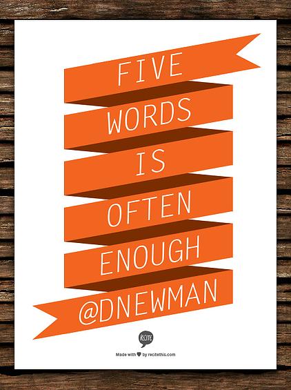 doitmarketing five words recite